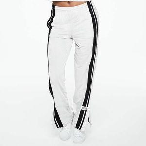XS VS Pink white Mesh Leg Snap Track JOGGER Pant